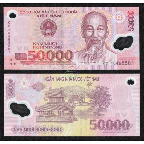 Vietnam 50,000 Dong, 2017, P-121, Polymer, UNC