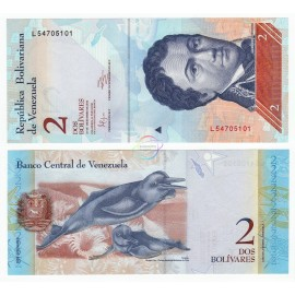 Venezuela 2 Bolivares, 2012, P-88, UNC