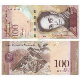 Venezuela 100 Bolivares, 2015, P-93, UNC