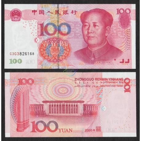 China 100 Yuan, 2005, P-907, UNC