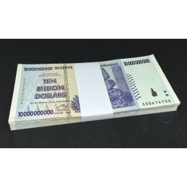 Zimbabwe 10 Billion Dollars X 50 PCS, 2008, P-85, XF-AU