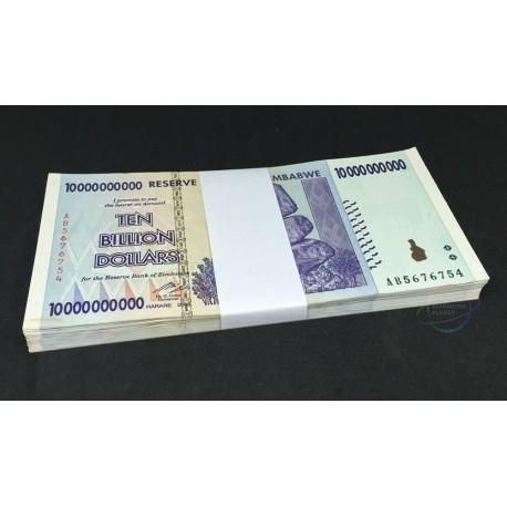 Zimbabwe 10 Billion Dollars X 50 PCS, 2008, P-85, XF-AU