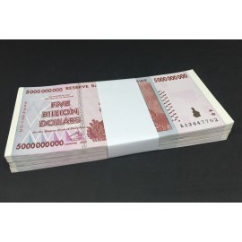 Zimbabwe 5 Billion Dollars X 100 PCS, 2008, P-84, AU-UNC