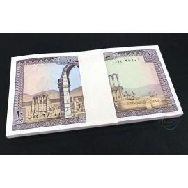 Lebanon 10 Livres X 50 PCS, 1986, P-63f, UNC