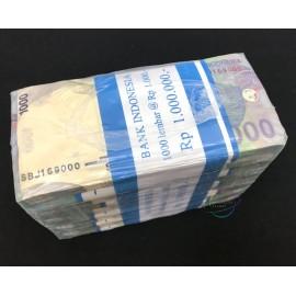 Indonesia 1,000 Rupiah X 1000 PCS, Full Brick, 2013, P-141, UNC