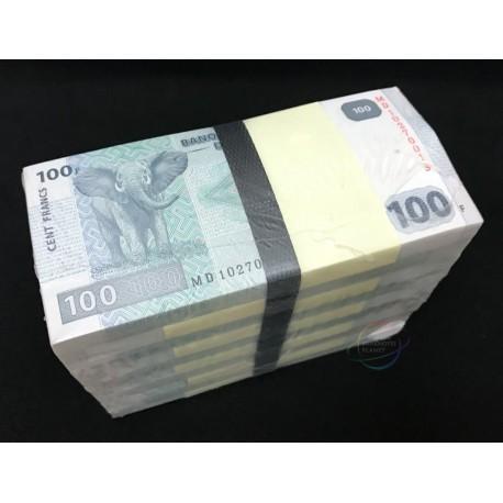 Congo D.R. 100 Francs X 1000 PCS, Full Brick, 2013, P-98, UNC