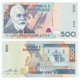 Albania 500 Leke, 2001, P-68, UNC