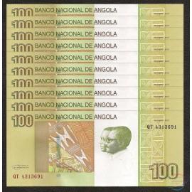 Angola 100 Kwanzas X 10 PCS, 2012, P-153, UNC