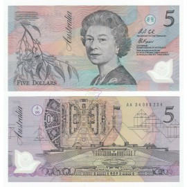 Australia 5 Dollars, QE II, 1992, P-50a, Polymer, UNC