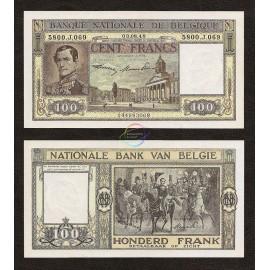 Belgium 100 Francs, Leopold I, 1948, P-126, UNC