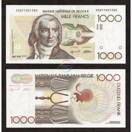 Belgium 1,000 Francs, Sign 5 & 15, 1980-1996, P-144a, UNC