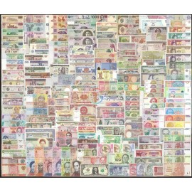 200 PCS Different Banknotes from Many Countries UNC