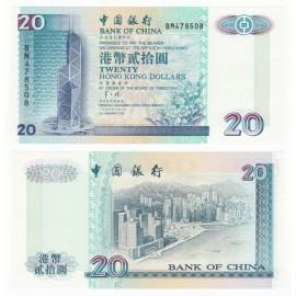 Hong Kong 20 Dollars, 1996, P-329b, UNC