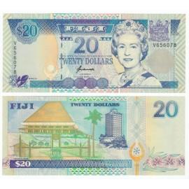 Fiji 20 Dollars, QE II, 1995, P-99a, UNC
