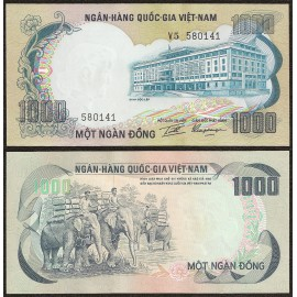South Vietnam 1,000 Dong, 1972, P-34, UNC