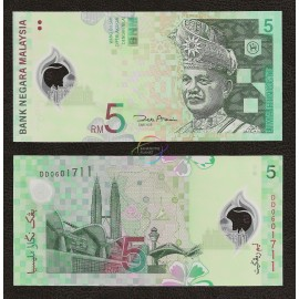 Malaysia 5 Ringgit, 2004, P-47, Polymer, UNC
