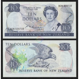New Zealand 10 Dollars, QE II, 1985, P-172b, UNC
