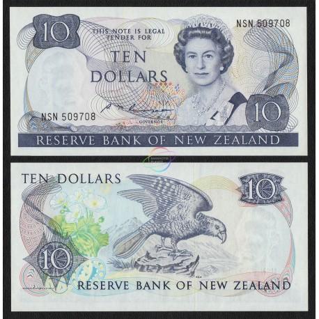 New Zealand 10 Dollars, QE II, 1985, P-172b, UNC