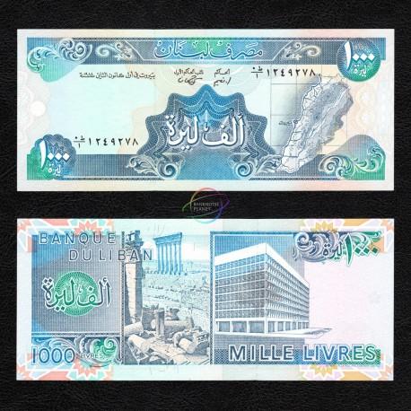 Lebanon 1,000 Livres, 1988, P-69a, UNC