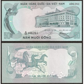 South Vietnam 50 Dong, 1972, P-30, AU