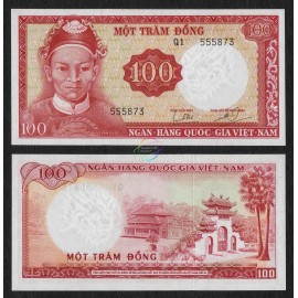 South Vietnam 100 Dong, A1 Prefix, WTM Demon Dragon, 1966, P-19a, UNC