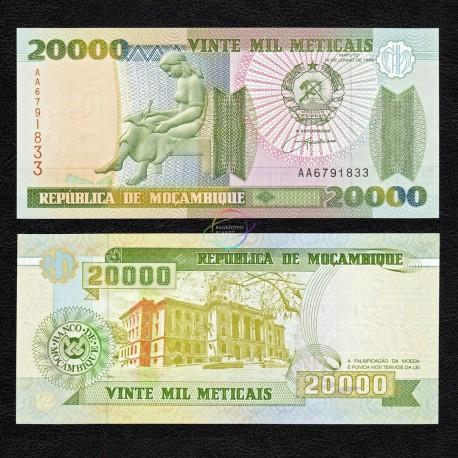 Mozambique 20,000 Meticais, 1999, P-140, UNC