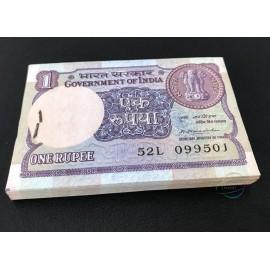 India 1 Rupee X 100 PCS, Full Bundle, 1981, P-78, AUNC