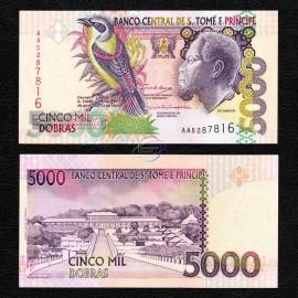 St. Thomas & Prince 5,000 Dobras, 2004, P-65b, UNC