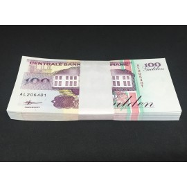 Suriname 100 Gulden X 100 PCS, Bundle, 1998, P-139b, UNC