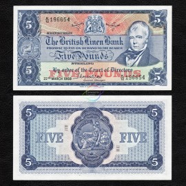 Scotland 5 Pounds, 1968, P-170, UNC