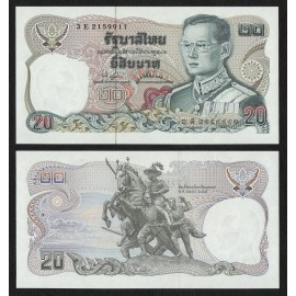 Thailand 20 Baht, Sign 74, ND 1981, P-88, UNC