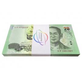 Thailand 20 Baht X 100 PCS, Full Bundle, Sign 87, 2016, P-118, UNC