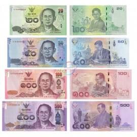 Thailand 20, 50, 100, 500 Baht Set, Commemorative, 2017, P-130, 131, 132, 133, UNC