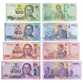 Thailand 20, 50, 100, 500 Baht Set, Commemorative, 2017, P-130, 131, UNC