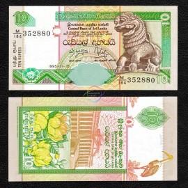Sri Lanka 10 Rupees, 1995, P-108, UNC