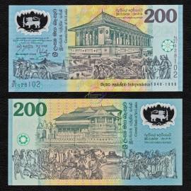 Sri Lanka 200 Rupees, 1998, P-114, Polymer, UNC