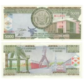 Burundi 5,000 Francs, 2003, P-42b, UNC
