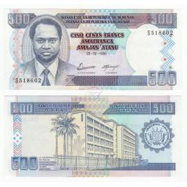 Burundi 500 Francs, 1995, P-37A, UNC
