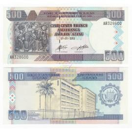Burundi 500 Francs, 2003, P-38c, UNC