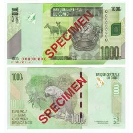 Congo D.R. 1,000 Francs, Specimen, 2013, P-101s, UNC