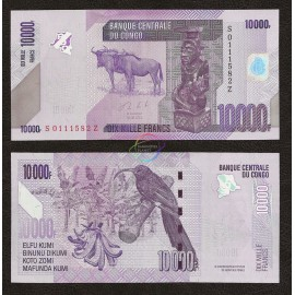 Congo D.R. 10,000 Francs, *Z* Suffix, Replacement, 2013, P-103, UNC