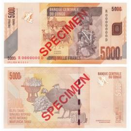 Congo D.R. 5,000 Francs, Specimen, 2013, P-102s, UNC