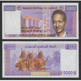 Djibouti 5,000 Francs, 2002, P-44, UNC