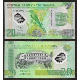 Gambia 20 Dalasis, Commemorative, 2014, P-30, Polymer, UNC