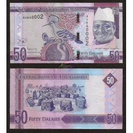 Gambia 50 Dalasis, 2015, P-34, UNC