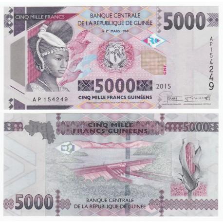 Guinea 5,000 Francs, 2015, P-49, UNC