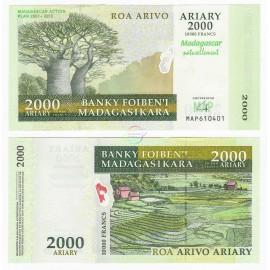 Madagascar 2,000 Ariary, Commemorative, 2007, P-93, UNC