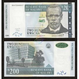 Malawi 200 Kwacha, 2004, P-55a, UNC