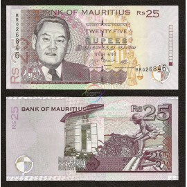 Mauritius 25 Rupees, 2009, P-49, UNC