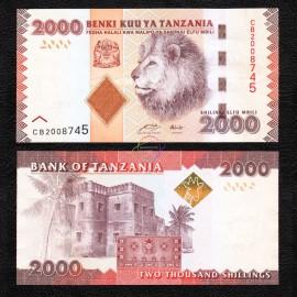 Tanzania 2,000 Shillings, 2010, P-42, UNC